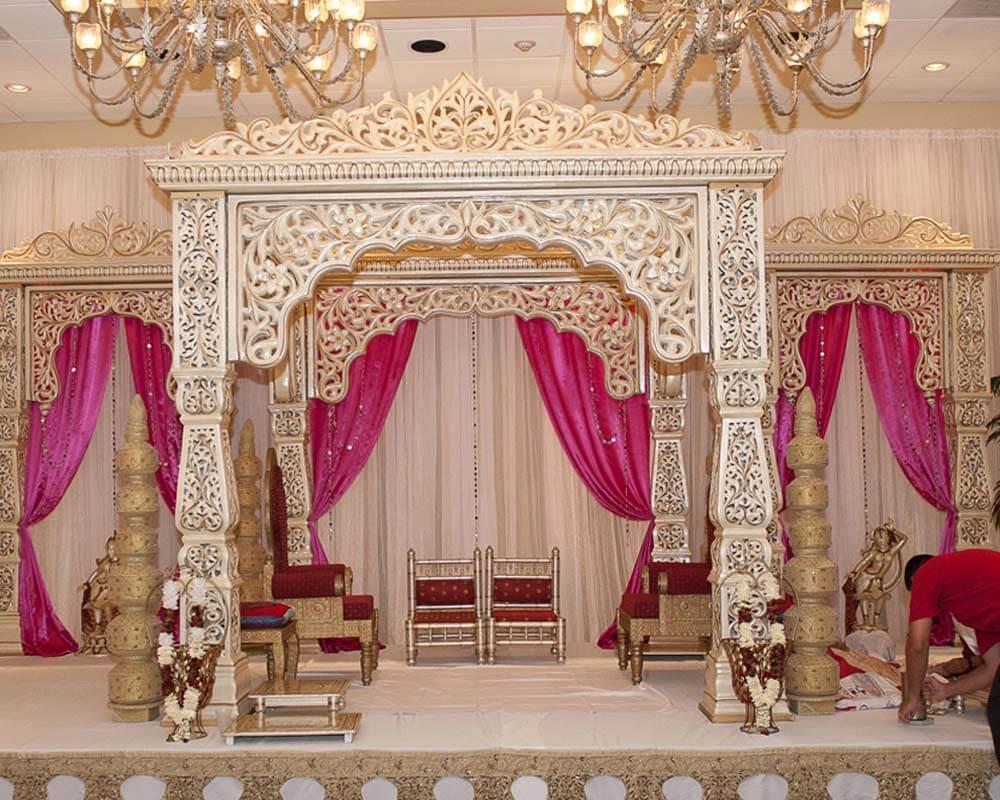 Indian Wedding Designer Fiber Mandap Sharma Fiber Wedding